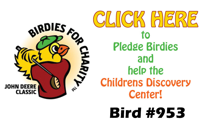 The Birdies for Charity logo and link to offical pledge card